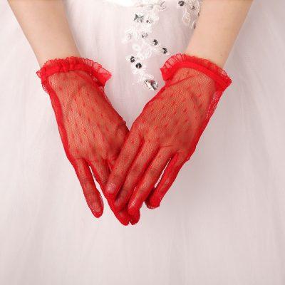 Цвет свадебных перчаток